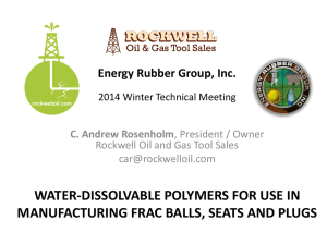 WATER-DISSOLVABLE POLYMERS FOR USE IN