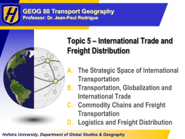 Topic 5 - International and Freight Distribution