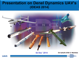 Presentation on Denel Dynamics UAV`s