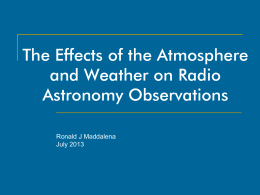 AtmosphereWeatherForRadioAstronomy