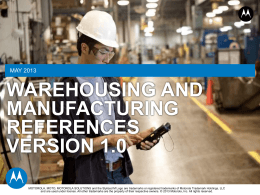 warehousing and manufacturing references version 1.0 (ppt 5721 kb)