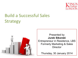 Build a successful sales strategy
