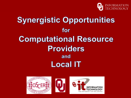PowerPoint - Oklahoma Supercomputing Symposium 2014