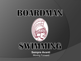 Nutrition PP 2013 - Boardman High School Swimming & Diving