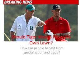 Should Tiger Woods Mow His Own Lawn