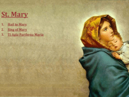 Songs of Saint Mary