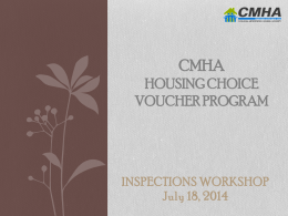 Inspection Workshop Brown Bag Presentation from 7/18/2014