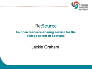 An open resource-sharing service for the college sector in