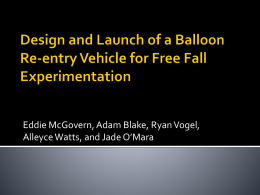 Design and Launch of a Balloon Re