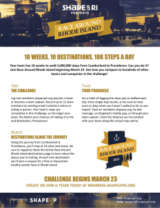 Join Race Around Rhode Island beginning March 23