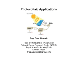 Photovoltaic Applications by Firas Alawneh
