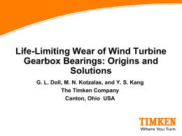 Life-Limiting Wear of Wind Turbine Gearbox Bearings: Origins and