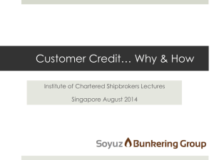 Customer Credit, Why & How? - ICS, Institute of Chartered