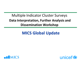 MICS Global Update