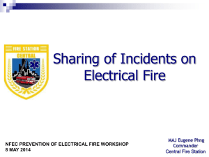 Sharing Of Incidents on Electrical Fires