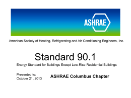 Here is Ned`s Presentation!!!!!! - ASHRAE