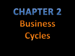PowerPoint: CHAPTER 2 – Business Cycles