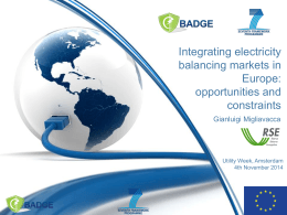 Integrating electricity balancing markets in Europe