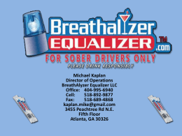 Breathalyzer Equalizer Presentation 032013
