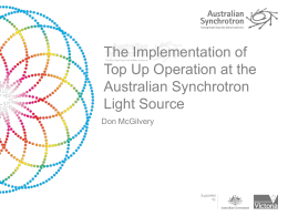 The Implementation of Top Up Operation at the Australian