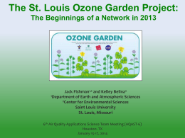 Saint Louis Ozone Garden Project: the beginnings of a network in