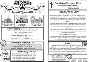 Benefice Bulletin 22 February 2015