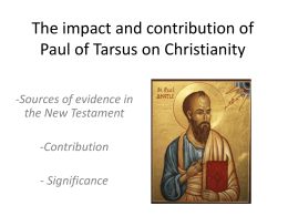 The impact of Paul on Christianity