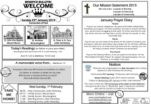 Benefice Bulletin 25 January 2015