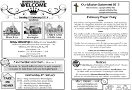 Benefice Bulletin 1 February 2015