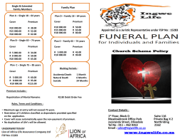 Individual Church Funeral Policy