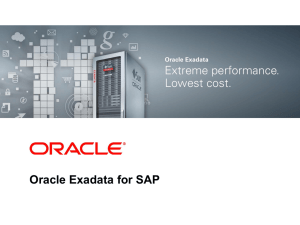Oracle Exadata for SAP