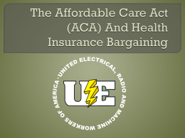 ACA and Health Insurance Bargaining
