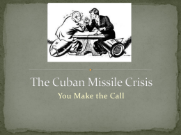Cuban Missile Crisis and Political Cartoons