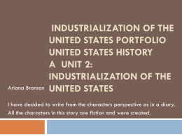 Industrialization of the United States Portfolio United