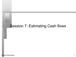 Session 7- Estimating cash flows
