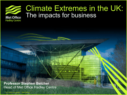 UK weather and climate extremes: the impacts for