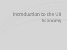 Introduction to the UK Economy