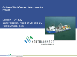 Sam Peacock from SSE re: NorthConnect