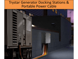 Generator and/or Load Bank Docking Stations