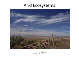 Arid Ecosystems - Global Change Biology