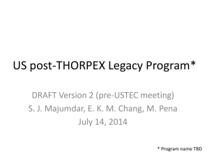 Preliminary Post THORPEX Followup Plan