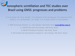 Ionospheric scintillation and TEC studies over Brazil