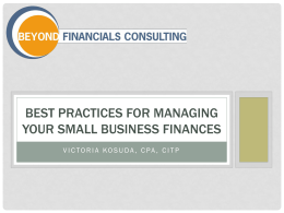 Link to Presentation - Beyond Financials Consulting