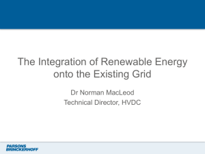 The Integration of Renewable Energy onto the