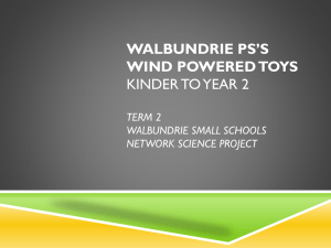 Walbundrie PS K-2 wind powered toy project