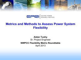 Methods and metrics to assess power system flexibility
