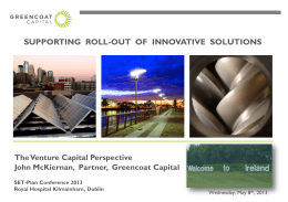 Cleantech Funding - Strategic Energy Technology Plan Conference