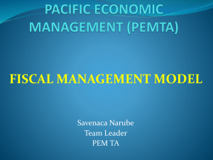 PACIFIC MANAGEMENT TA - Pacific Financial Technical Assistance