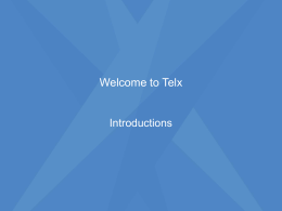 Telx Powerpoint information