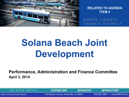 Solana Beach Joint Development